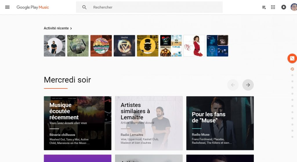 Google Play Music sur chromebook
