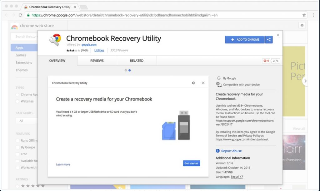 Chrome Recovery Utility