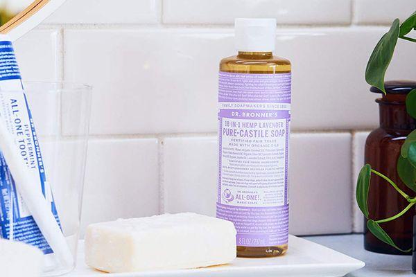Savon liquide lavande - castille pure de Dr Bronner