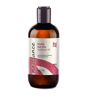 L'huile de massage sensuelle et aphrodisiaque de chez Naissance