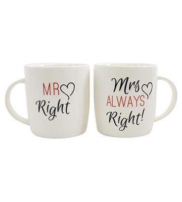 Les tasses Mr. and Mrs. de chez Jones Home and Gift