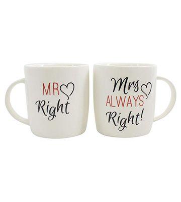 Les tasses Mr. Right & Mrs. Always Right de chez Jones Home and Gift