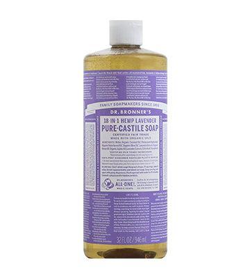 Savon liquide lavande - castille pure de Dr. Bronner (946 ml)