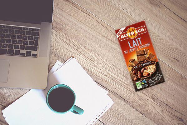Chocolat au laitriz soufflé Bio - Alter Eco