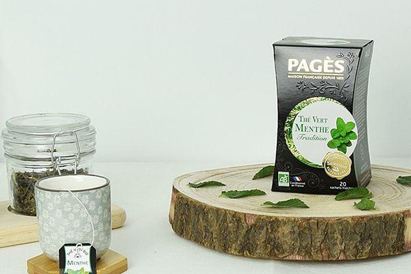 Thé vert à la menthe Bio, de Pagès