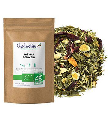 Thé vert aux plantes, de Chabiothé Detox Bio (200 g)
