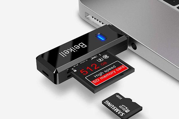 Le lecteur-adaptateur de carte SD-MicroSD de Beikell