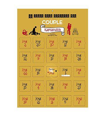 Le calendrier de l'avent Kamasutra de Calendrier Evenement