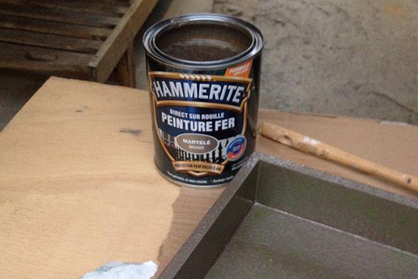 Hammerite Direct sobre óxido martillado
