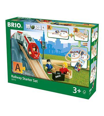 Circuito de trenes de madera de Brio