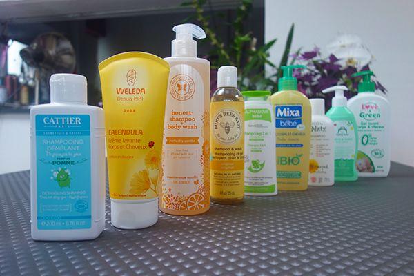 Ensemble des shampoings bébé testés