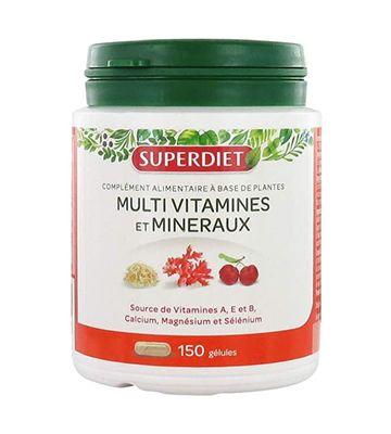 Superdiet Multivitamines et Minéraux (150 gélules)