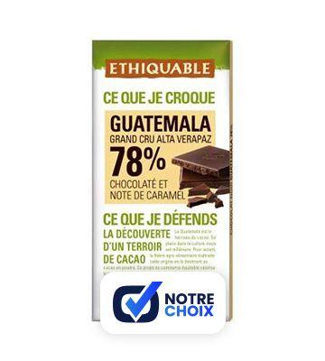 Chocolat Noir 78% Cacao Guatemala Bio - Ethiquable