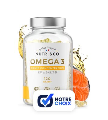 Nutri and Co Omega 3 Haute Concentration (120 gélules)