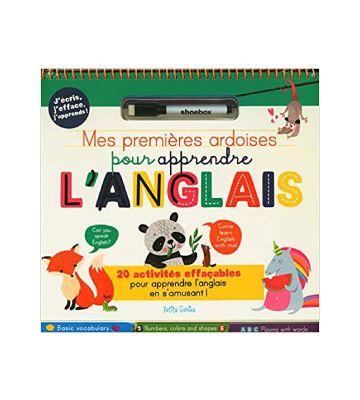 Mes premières ardoises pour apprendre l'anglais : avec un feutre effaçable, de Danielle Robichaud, Claire Chabot et al. (2020)