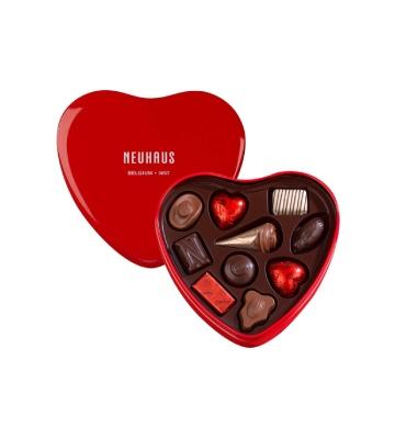 Red Metal Heart Box 130 g - Neuhaus