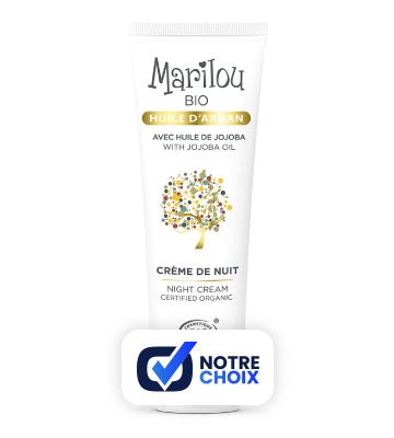 Crema de noche con aceite de argán Bio Marilou (50 ml)