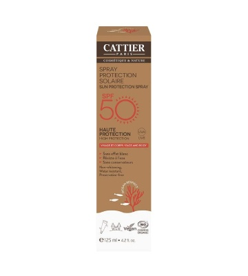 Cattier Spray Protection Solaire SPF 50 (125 ml)