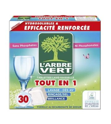 L'Arbre Vert Tablettes Lave-Vaisselle Tout en 1 (30 tablettes)