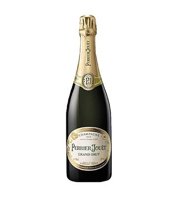 La bouteille de champagne Grand Brut de Perrier-Jouët