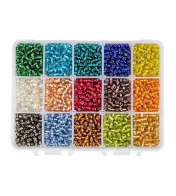 PandaHall Elite 3300 perles de 15 couleurs
