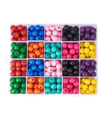 PandaHall Elite 400 perles en bois de 10 couleurs