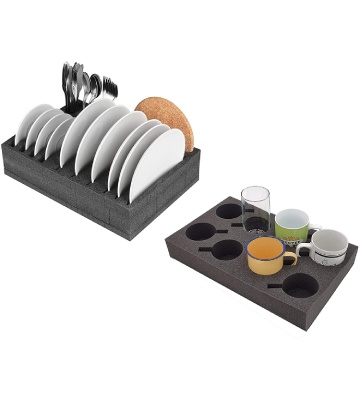 Schaumex Porte-gobelet et assiettes en mousse