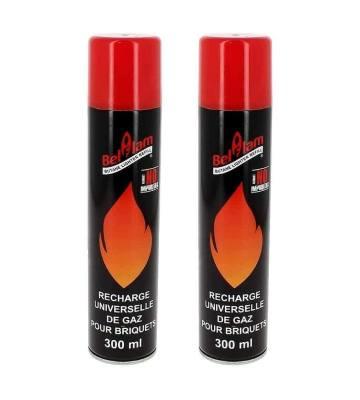 Belflam recharge universelle de gaz pour briquets 2 x 300 ml