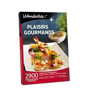 Le coffret cadeau Plaisirs Gourmands de Wonderbox