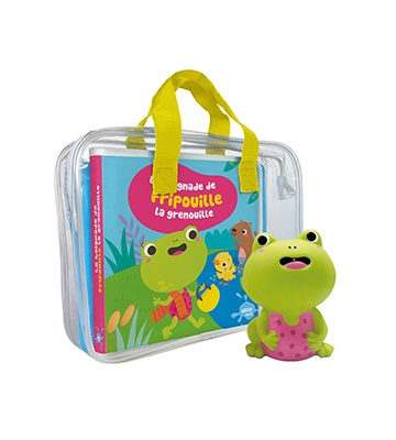 Mon premier livre de bain La baignade de Fripouille la grenouille